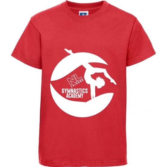 Jerzees Schoolgear Kids Classic Ringspun T-Shirt with NL Gymnastics Logo