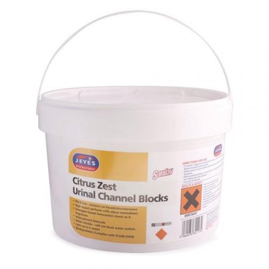 Jeyes Professional Sanilav Urinal Channel Blocks Citrus Zest [3kg]