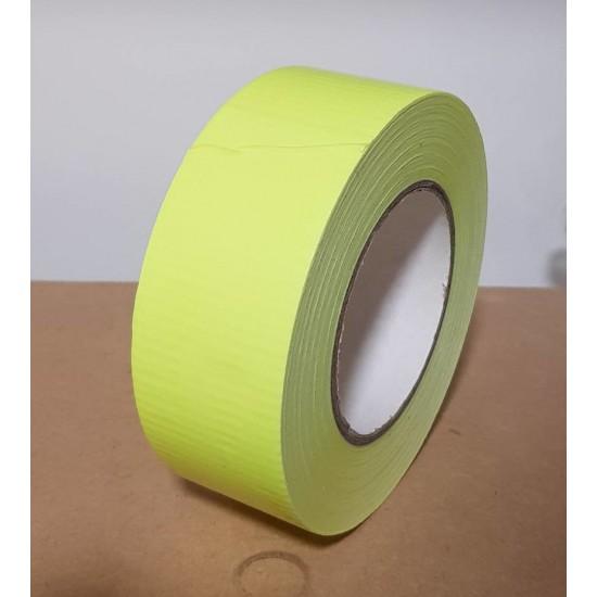 Duct Tape Flourescent Yellow 48mm x 50 Metres