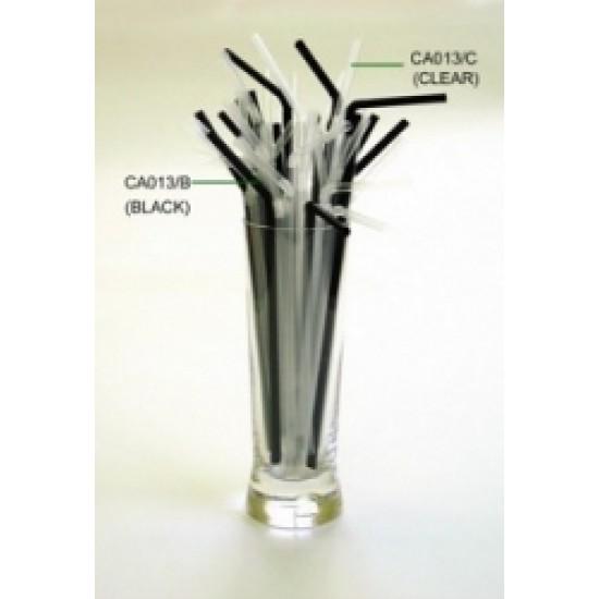 Black Flexi Straws 8 inch (250 pack)