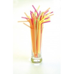 8 Fluorescent Flexi Straws (250)