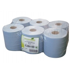 2 ply Blue Centre Feed Standard 6 x 150m rolls