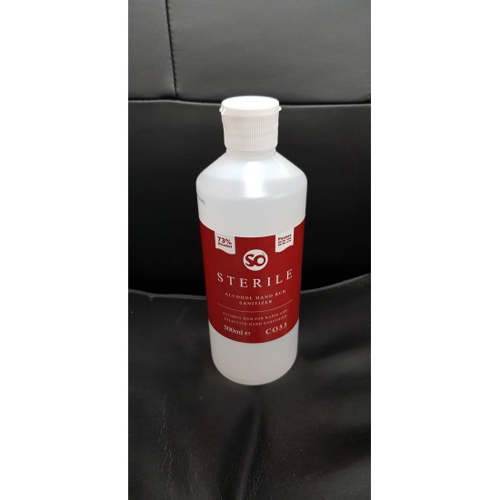So Sterile Alcohol Hand Rub Sanitiser 500ml bottle 73% Alcohol
