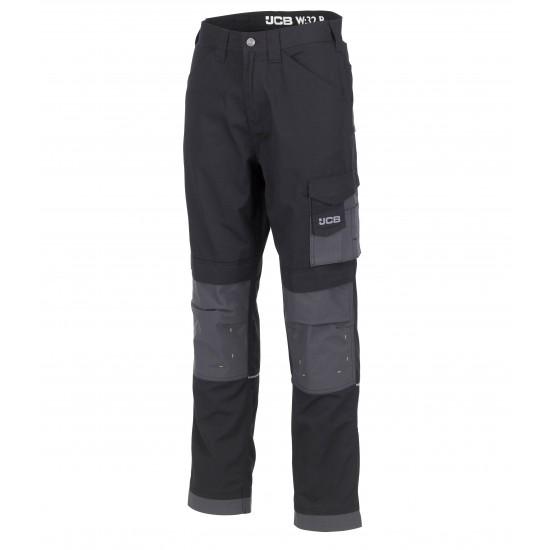 JCB Trade Rip Stop Black/Grey Trousers