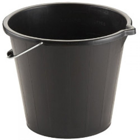 PVC Black Builders Bucket 3 gallons