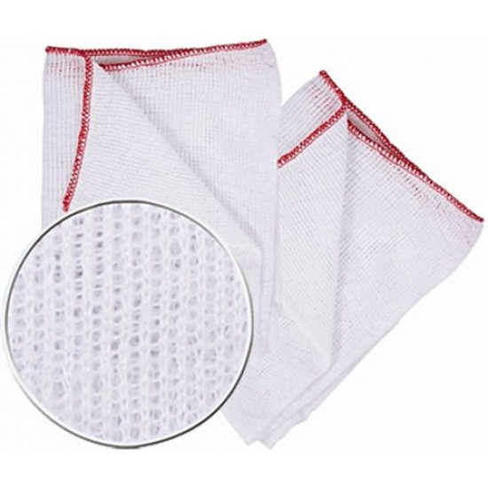 10 inch Dish Cloths with Red Edge (10 pack)