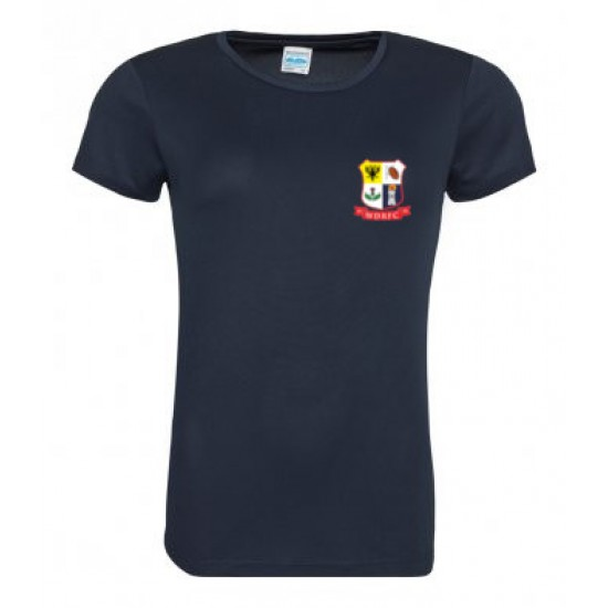 AWDis Cool Girlie T-Shirt with WDRFC logo