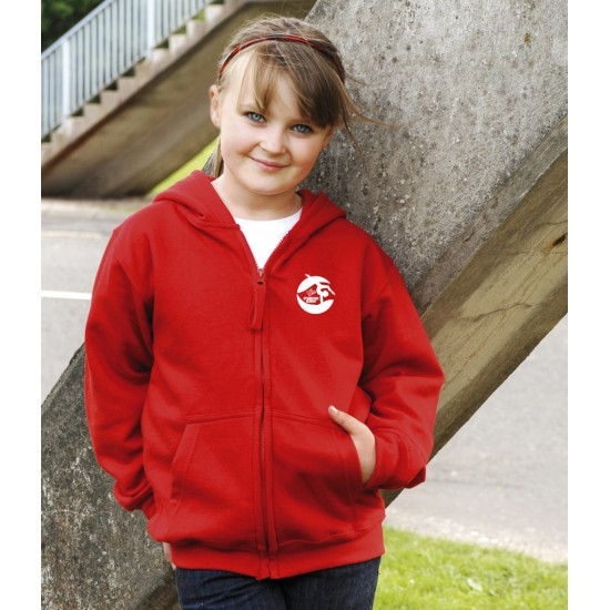 AWDis Kids Zoodie/Hooded Sweat shirt with NL Gymnastics