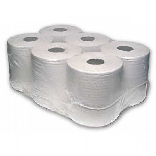 2 ply White Centre Feed Standard 6 x 150m rolls