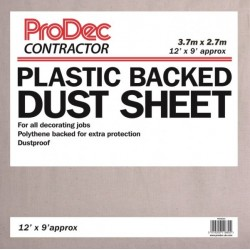 Polythene Backed Dust Sheet 12' x 9'  Cotton Twill