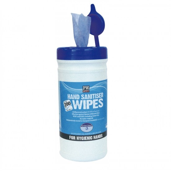 Portwest Hand Sanitiser Wipes (200 Wipes)