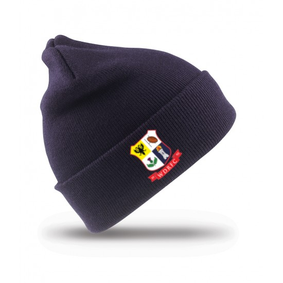 Result Woolly Ski Hat with WDRFC Logo