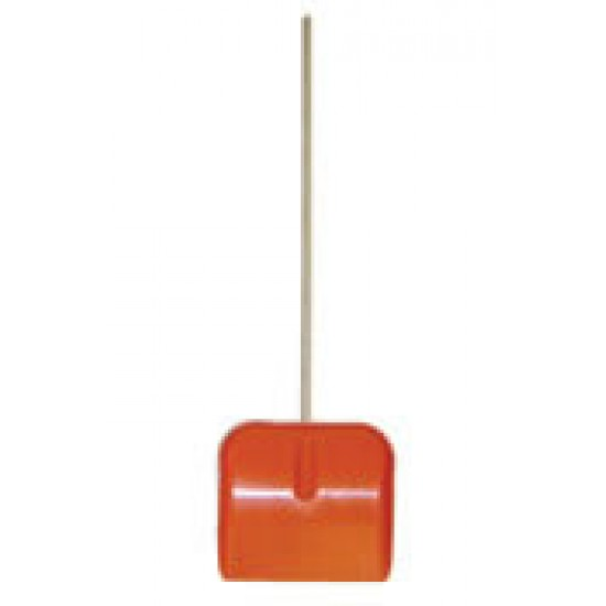 Plastic Snow Scoop With Wooden Handle
