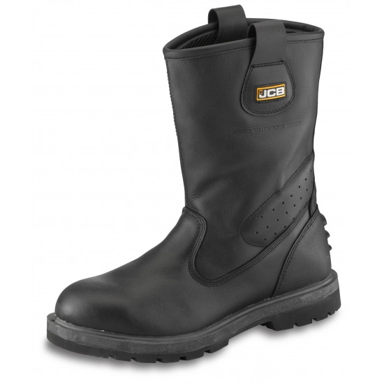 JCB Trackpro Safety Rigger Boots in Black S3