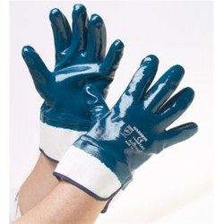 Nitrile Gloves Fully Coated Safety Cuff