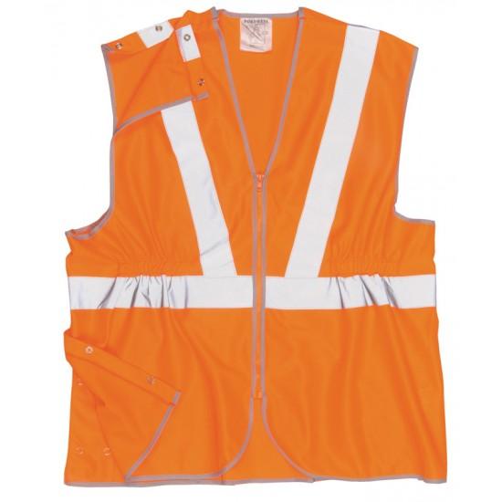 Orange Hi-Vis Quick Release Vest (L)