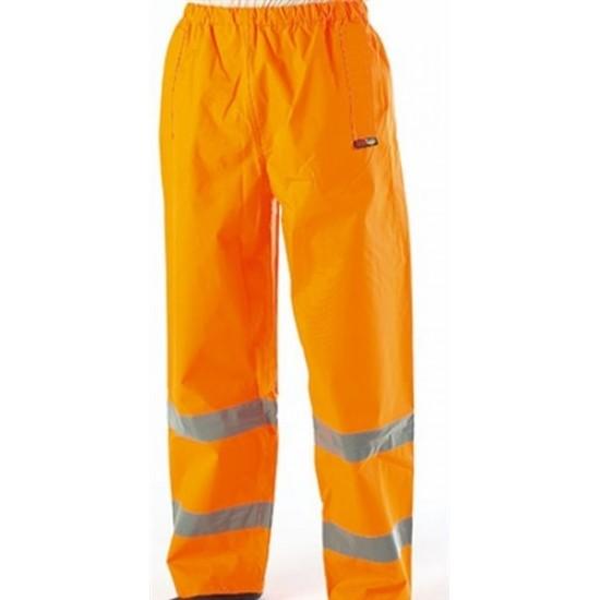 Hi-Vis Waterproof Trousers in Orange