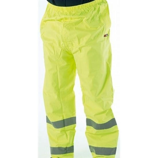 Hi-Vis Waterproof Trousers in Yellow