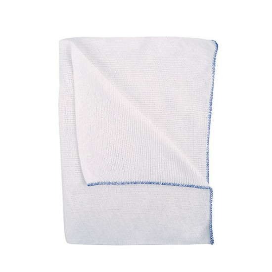 10 inch Dish Cloths with Blue Edge (10 pack)