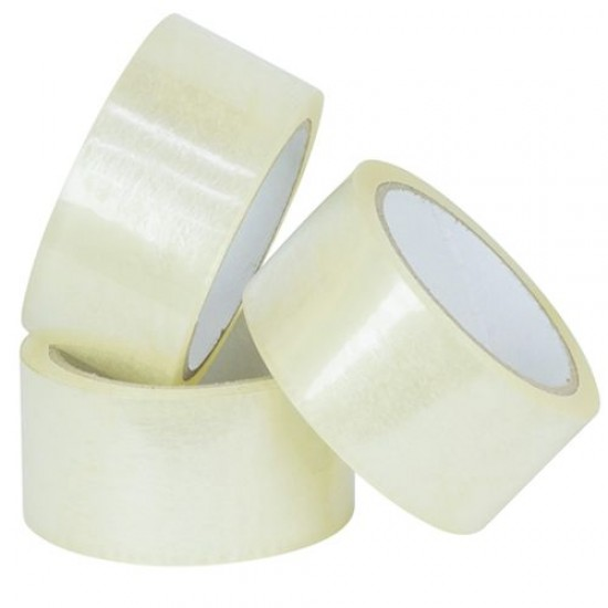 Clear Polyprop Tape 50mmx60m (1 roll)