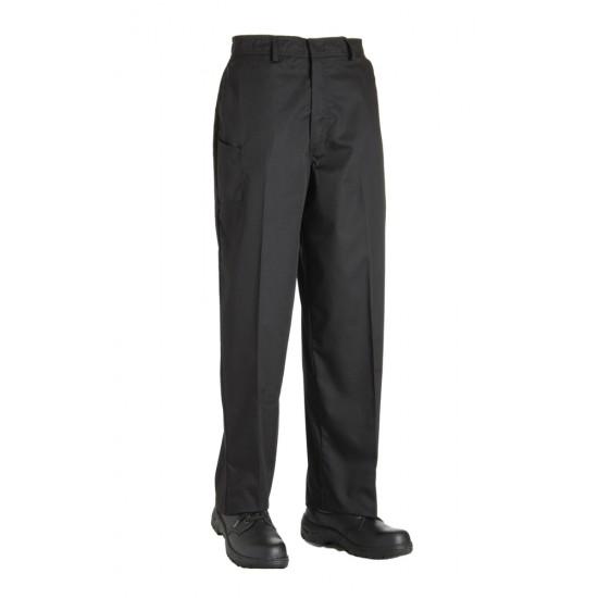 AFD Chef Trouser P/C Zip Fly Black