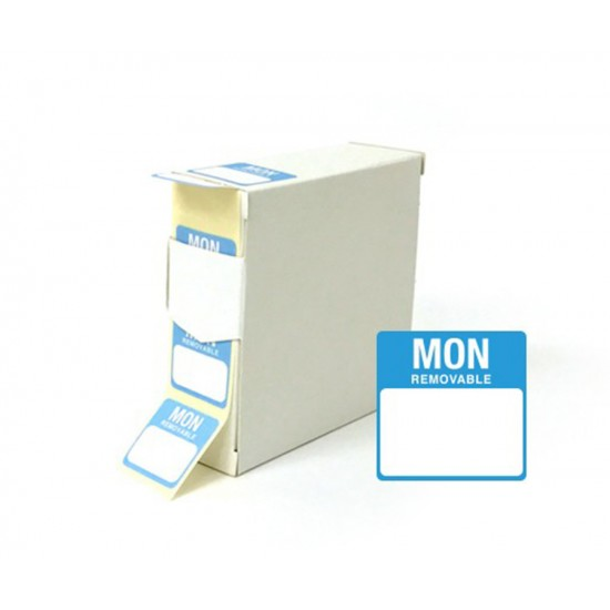 Monday 25x25mm Food Labels - 1000 pack
