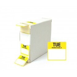 Tuesday 25x25mm Food Labels - 1000 pack