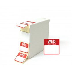 Wednesday 25x25mm Food Labels - 1000 pack