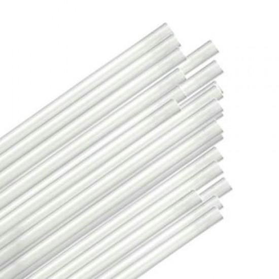 """20"""" White Jumbo Straws (500)"""