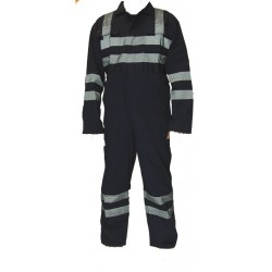Superior Navy Heavy Weight Coverall with Reflective Tape