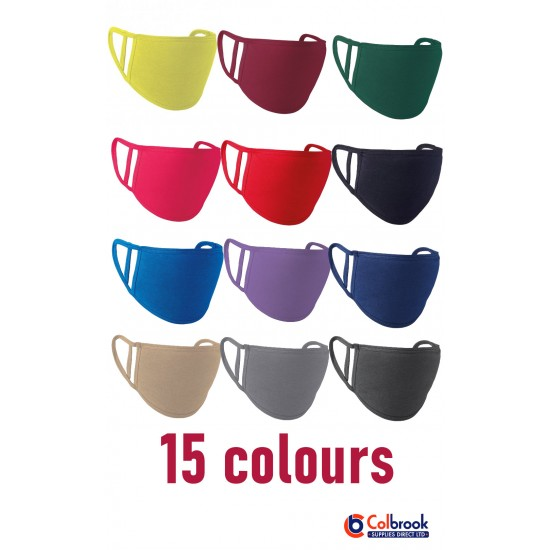 Premier Washable 2-Ply Face Coverings (Pack of 5 Masks)