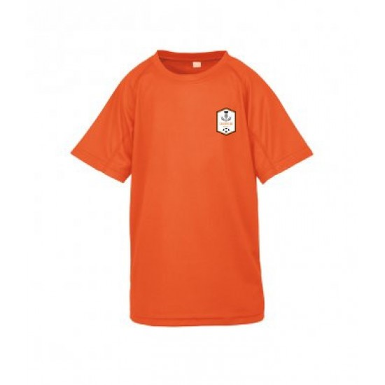 Spiro Kids T-Shirt with Coatbridge Thistle Embroidered Logo