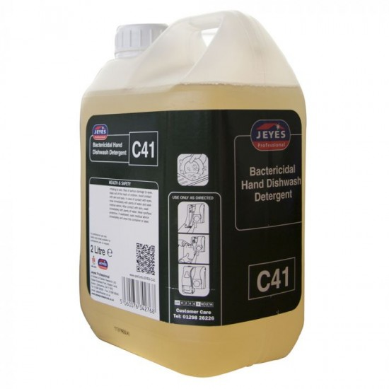 Jeyes C41 Super Concentrate Antibacterial Washing Up Liquid [2 x 2 Litre]