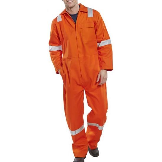 Flame Retardant Hi-Vis Orange Coverall